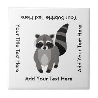 Little Raccoon Rascal Personalized Tile