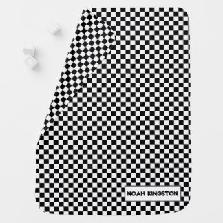 Little Racer Checkered Flag Baby Blanket