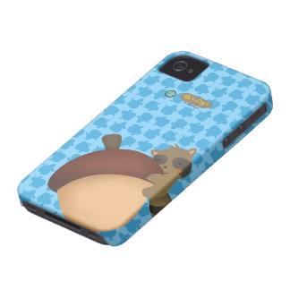 Little Racoon BlackBerry Blue Case iPhone 4 Case-Mate Case
