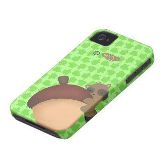 Little Racoon BlackBerry Green Case iPhone 4 Case