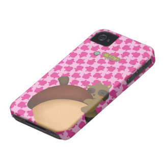 Little Racoon BlackBerry Pink Case iPhone 4 Cases