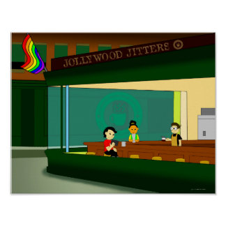 Little Rainbow Diner Poster