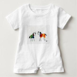 Little Rainbow Ponies Baby Romper
