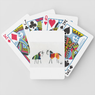 Little Rainbow Ponies Bicycle Playing Cards