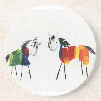 Little Rainbow Ponies Coaster
