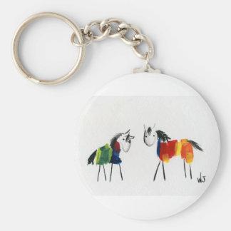 Little Rainbow Ponies Keychain