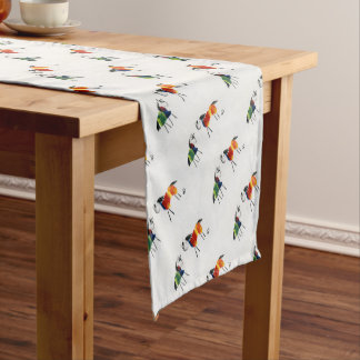 Little Rainbow Ponies Short Table Runner