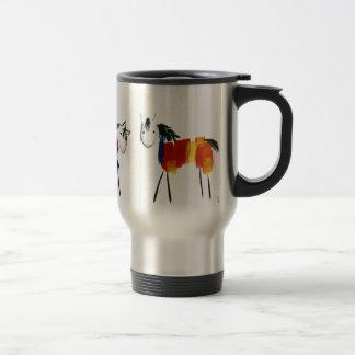 Little Rainbow Ponies Travel Mug