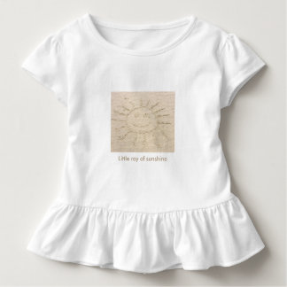 Little ray of sunshine smiley faced sun drawing toddler t-shirt