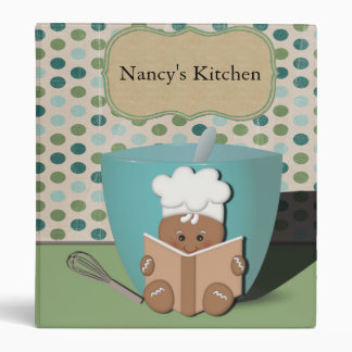 Little Recipe Reading Gingerbread with Mixing Bowl 3 Ring Binder