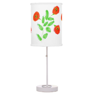 Little Red a Poppy Table Lamp