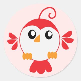 Little Red Bird Classic Round Sticker