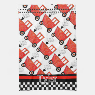 Little Red Caboose Kitchen Towel