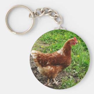 Little Red Chicken  - Free Range Egg Layer Keychain