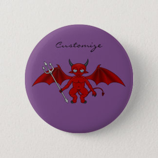 Little Red Devil Thunder_Cove 2 Inch Round Button