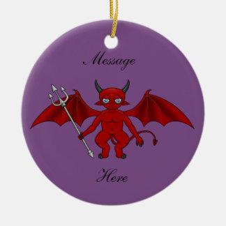 Little Red Devil Thunder_Cove Ceramic Ornament