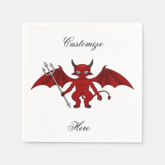 Little Red Devil Thunder_Cove Paper Napkin