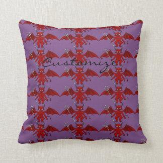 Little Red Devil Thunder_Cove Throw Pillow