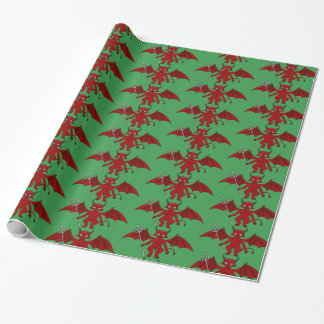 Little Red Devils Thunder_Cove Wrapping Paper