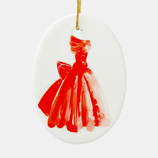 Little Red Dress Christmas Ornament