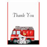 Little Red Fire Truck, Dalmatian Birthday Postcard