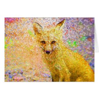 Little Red Fox Art Card
