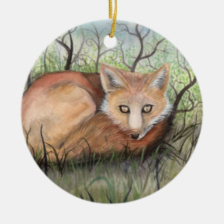 Little Red Fox Christmas Ornament