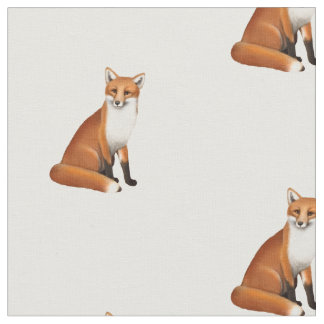 Little Red Fox Wildlife Combed Cotton Fabric