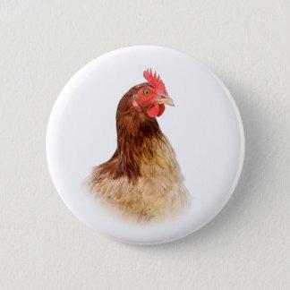 Little Red Hen Button