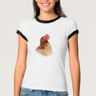 Little Red Hen Ladies Ringer T-Shirt