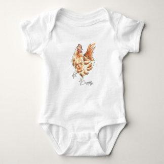 Little Red Hen Watercolor by Deja Wolfe Baby Bodysuit