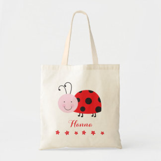 Little Red Ladybug Personalized Bag Tote  for Girl