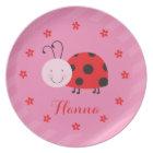 Little Red Ladybug Personalized Melamine Plate