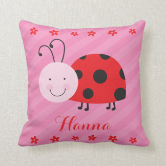 Little Red Ladybug Personalized Pillow