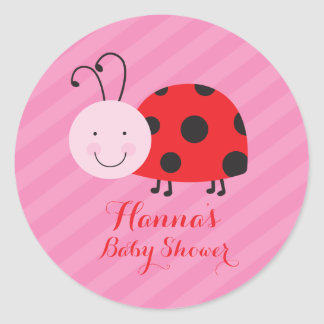 Little Red Ladybug Personalized Stickers for gifts