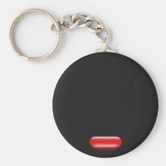 Little Red Pill Basic Round Button Keychain