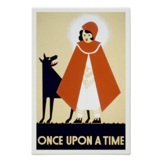 Little Red Riding Hood, 1936. Vintage Art Poster