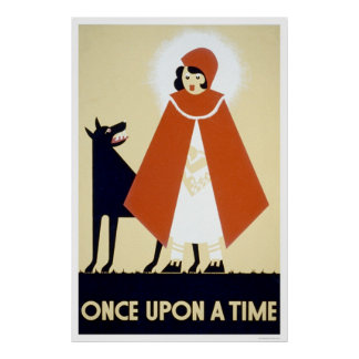 Little Red Riding Hood 1937 WPA Poster