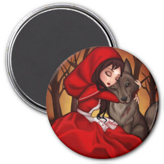 Little Red Riding Hood 3 Inch Round Magnet