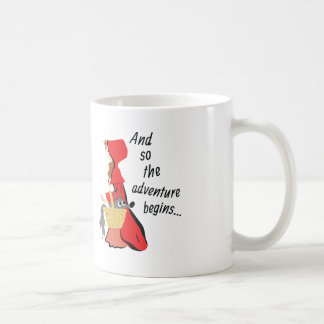 Little Red Riding Hood and Her Wolf Pup Coffee Mug