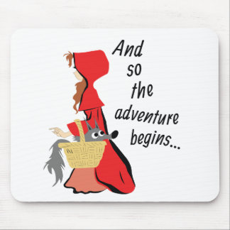 Little Red Riding Hood and Her Wolf Pup Mouse Pad