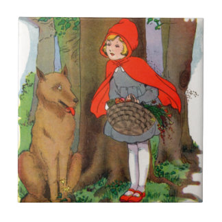 Little Red Riding Hood and the Wolf Tile