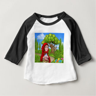 Little Red Riding Hood and Wolf Scene Baby T-Shirt