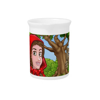 Little Red Riding Hood and Wolf Scene Pitcher