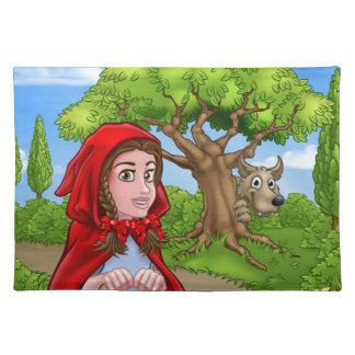 Little Red Riding Hood and Wolf Scene Placemat