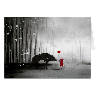 Little Red Riding Hood Be My Valentine Card