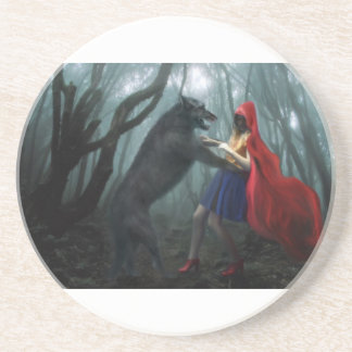 Little Red Riding Hood Beverage Coasters