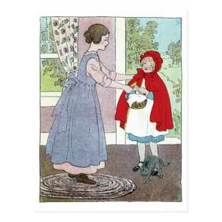 Little Red Riding Hood: Bring This To Grandma Postcard