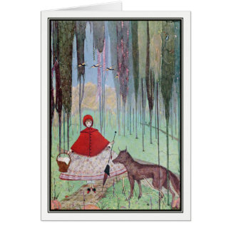 Little Red Riding Hood by Harry Clarke Card