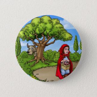 Little Red Riding Hood Cartoon Scene 2 Inch Round Button